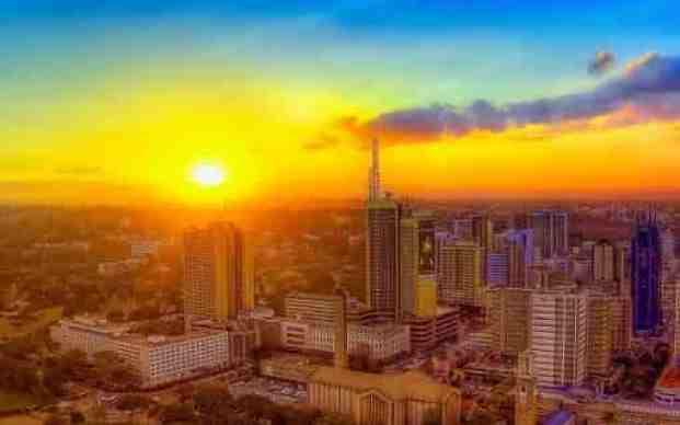Sun set Nairobi - most beautiful cities in Africa