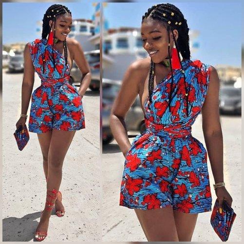African dress shorts