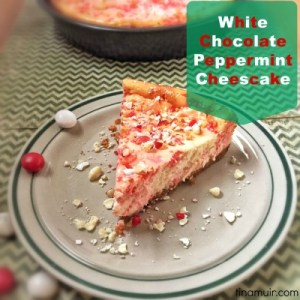 This lightened version of a festive cheesecake is a great dessert for your next holiday party!