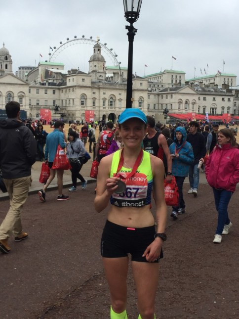 Tina Muir Finish London Marathon 2015