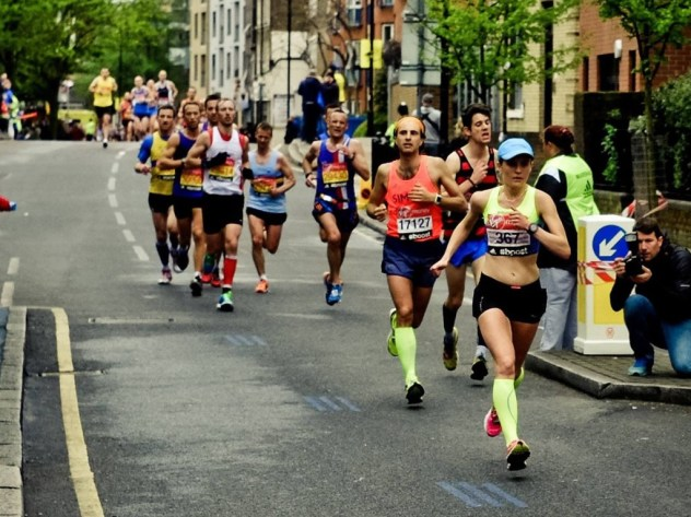 Tina Muir Mile 20 London Marathon 2015