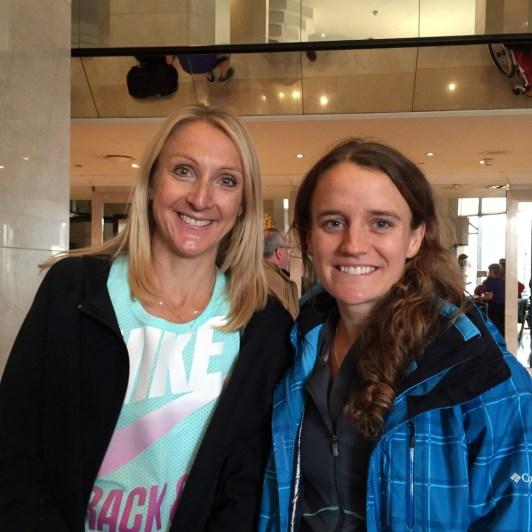 Tina and Paula Radcliffe