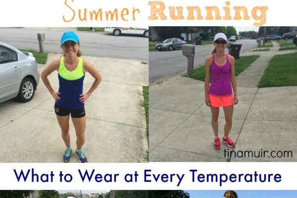 Elite runner Tina Muir gives runners a guide on what to wear during the summer months to make running as comfortable and enjoyable as possible!