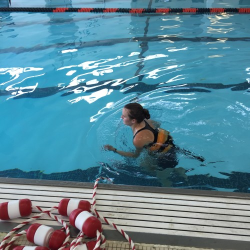 Tina Muir Pool Running