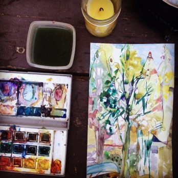 Work in Progress. At Home in the Woods. Tina Newlove
