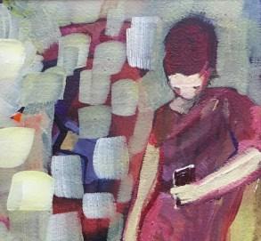 detail. Waiting, Tina Newlove, Mixed media