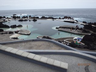 Natural seawater pools, N Madeira