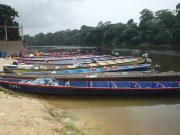 Ferries/Canoes at Aitoni - where the roads ends