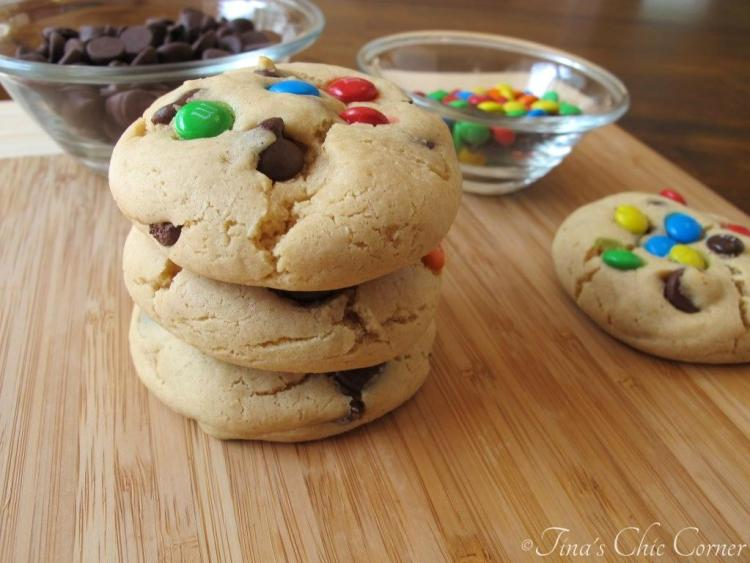 03Soft Peanut Butter Cookies with M&Ms and Chocolate Chips