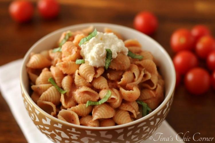 08Pasta With Tomato Cream Sauce