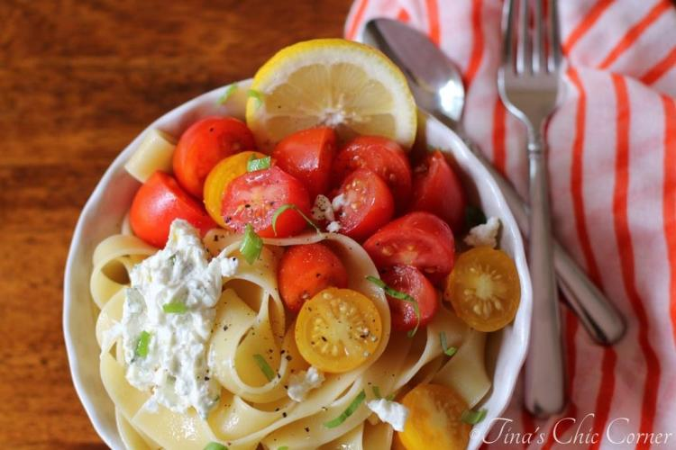 03Pappardelle With Tomatoes and Herbed Goat Cheese
