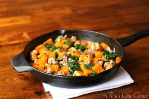 03Butternut Squash, Kale, and Sausage