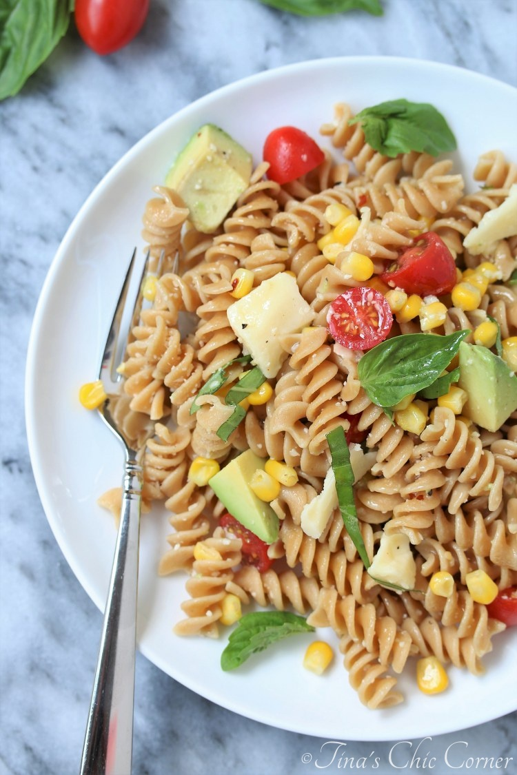 Corn, Tomato, and Avocado Pasta Salad – Tina's Chic Corner