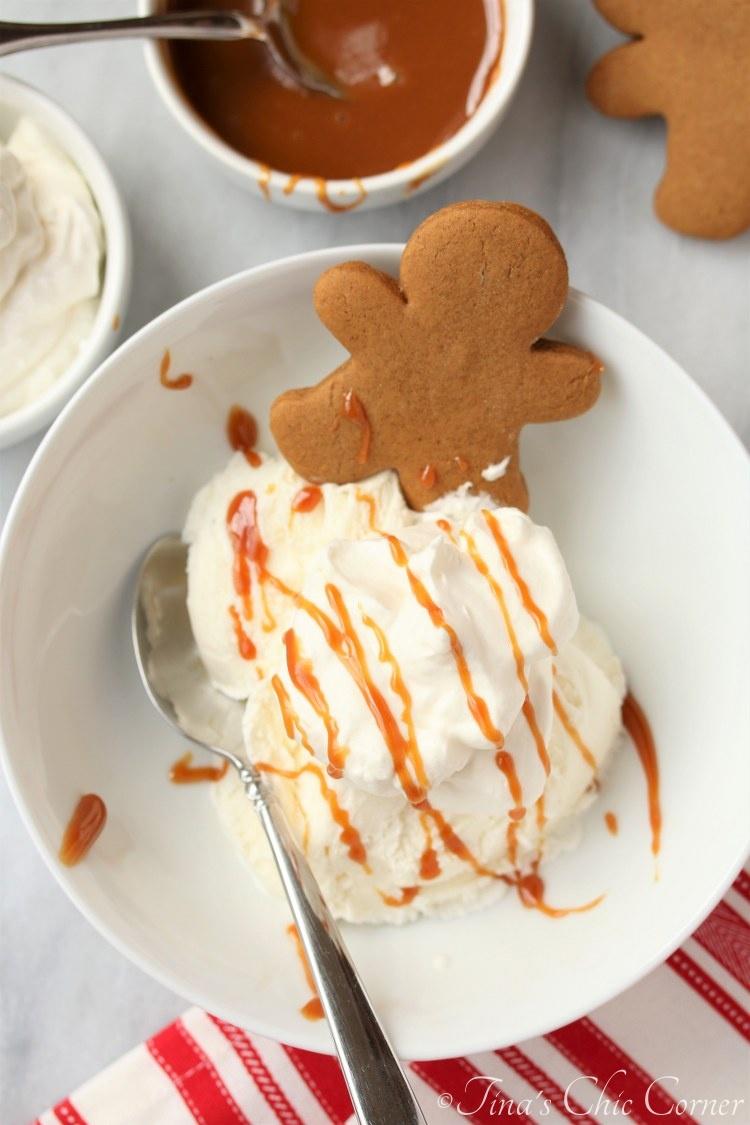 Christmas Sundaes With Miniature Gingerbread Man Cookies Tina S Chic Corner