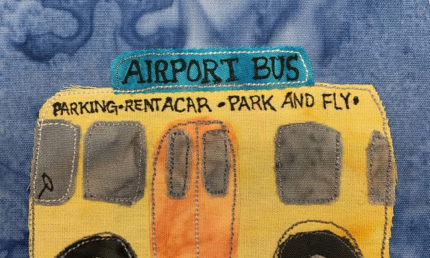 Block-A-Day 159 – The Airport Shuttle Bus
