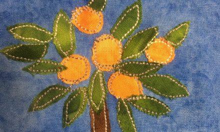 Block-A-Day 187 – The Orange Tree