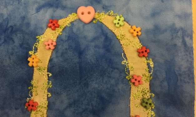 Block-A-Day 222 – Mary's Wedding Archway