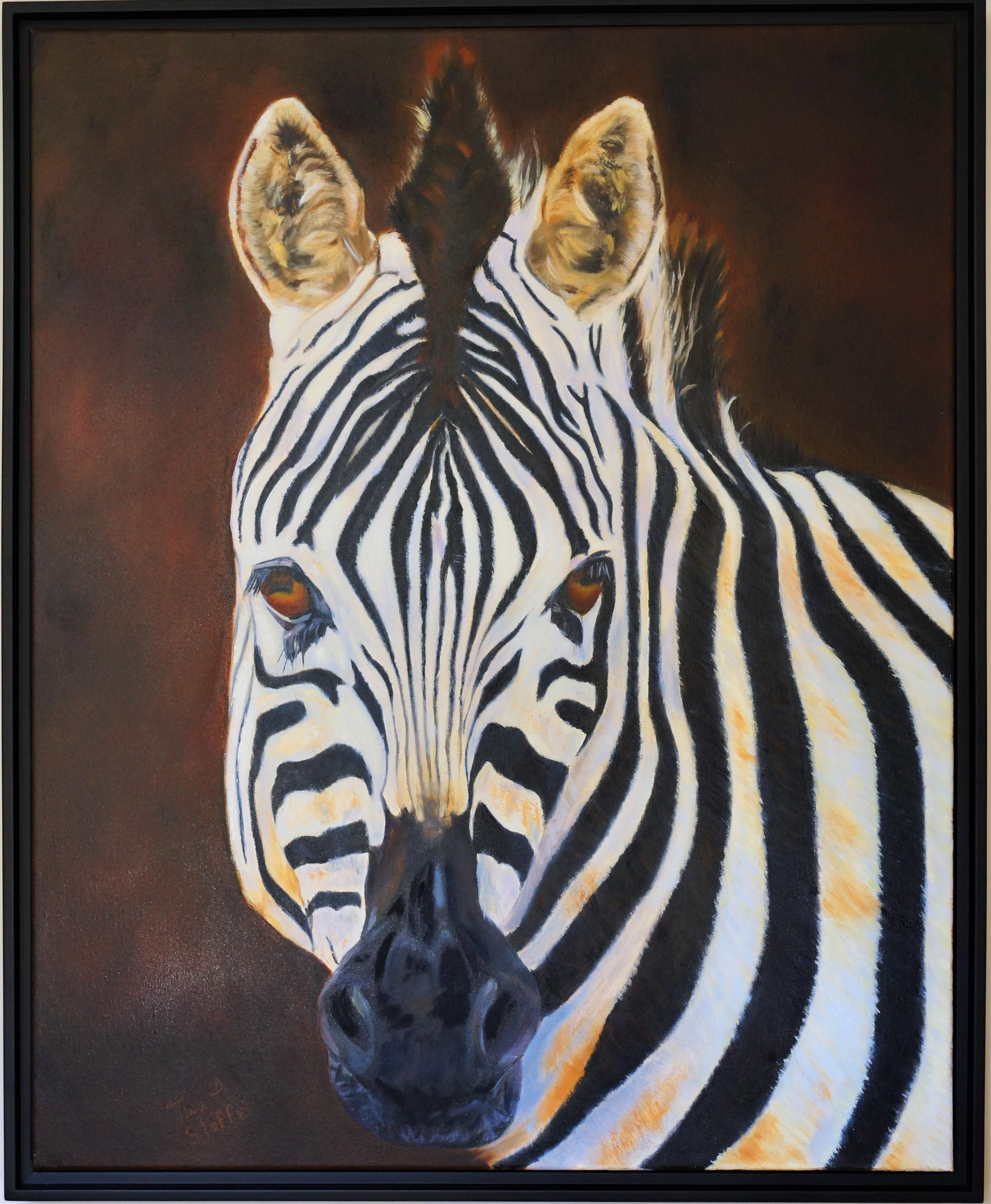 Quagga Zebra Oil Painting | TinasFineArts.com