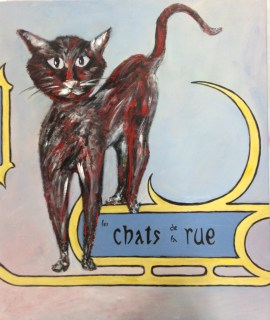 "Un Chat de la Rue (24""x20"", gallery canvas, $200)"