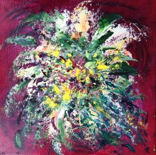 Bouquet (acrylic on canvas) - GIFT