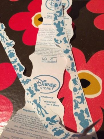 Disney Store Receipt