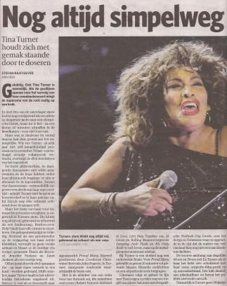 Tina Turner - Algemeen Dagblad - March 23, 2009 - 01