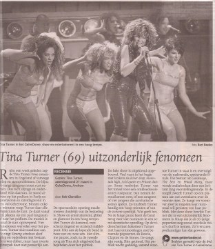 Tina Turner - De Gelderlander - March 23, 2009