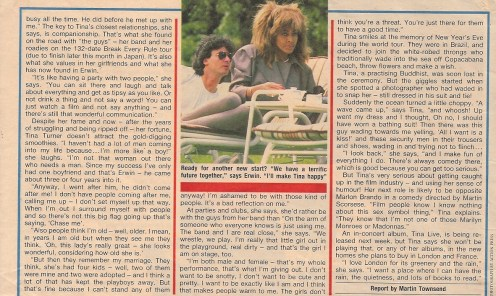 Tina Turner & Erwin Bach - UK magazine 1988 - 03