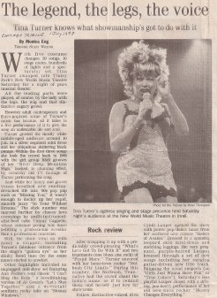 Tina Turner Concert Review Chicago Tribune - USA - 1997