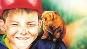 Illustration of boy and bear by Tina Wilson
