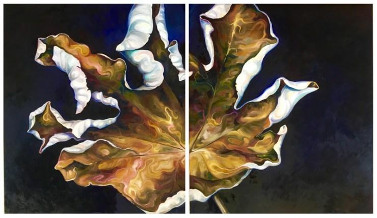 Autumn, oil painting on board by artist Tina Wilson