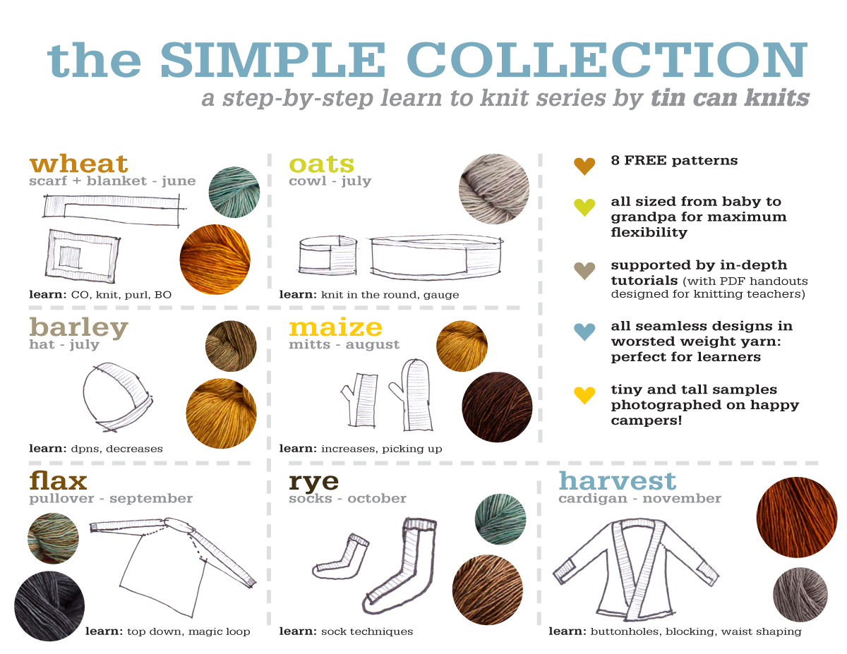 Tin Can Knits Simple Collection Patterns