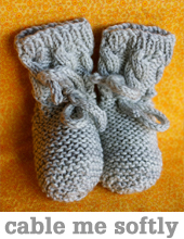 Cable me softly booties