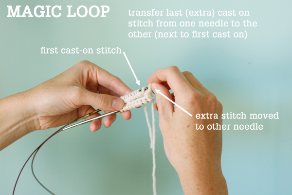 Magic Loop Technique   how to knit in the round using a single long circular ...