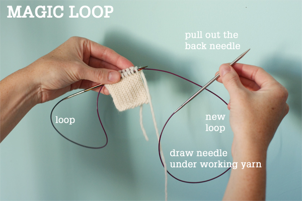 Magic Loop Technique How To Knit In The Round Using A