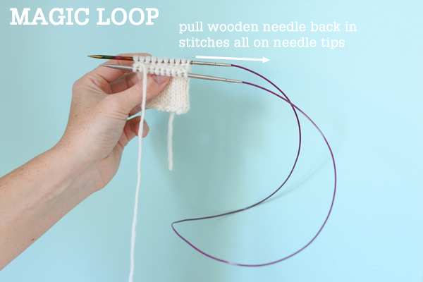 Magic Loop Technique – how to knit in the round using a