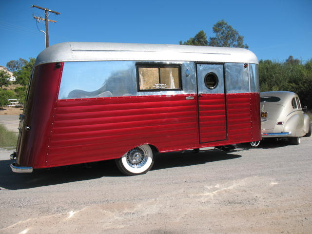 """1934 Silverdome 18' RESTORED """"Ground Up"""" FULLY self contained WITH full bathroom in a vintage style"""