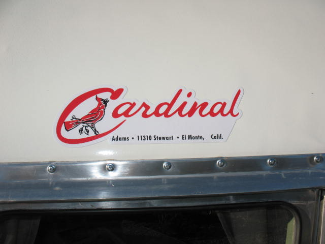 "1952 Cardinal 16' Canned Ham style RESTORED ""ground up"" new"