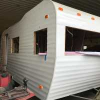 69 Fan Camper remodel project for sale
