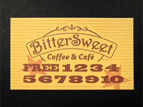 Bittersweet Punchcard