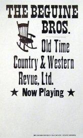 Beguine Bros. Gig Poster
