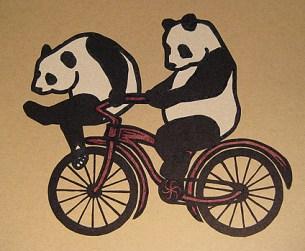 Panda Linocut