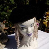 Bonnet alpaga noir, crochet