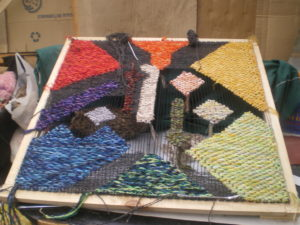 Autre exemple, technique de tapisserie