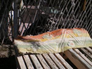 Feutre, orange de garance, vert clair d'hibiscus
