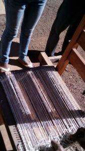 Métier à clous pour tester des points au sisal