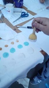 Certaines ont suivi les explications presque au pied de la lettre, nous avons ajoutè le sulfate de cuivre en bleu clair