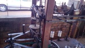 Machine pour mouliner la soie, chez mon ami Hilaire, à Talata, Madagascar