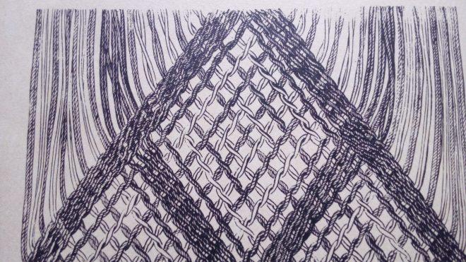Schéma de tissage de filet - gaze