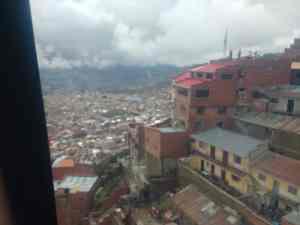 La Paz, Bolivie, vue depuis le téléphérique qui descend de El Alto
